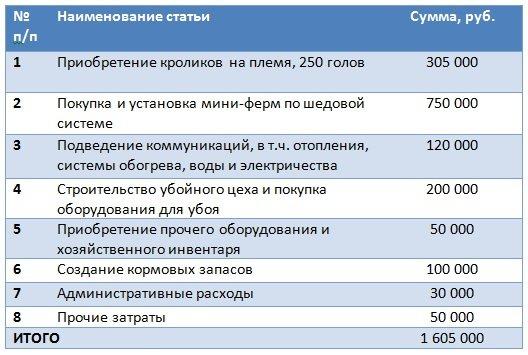 Первичные расходы проекта