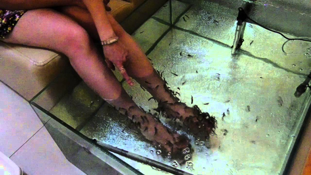 Процедура пилинга ног рыбками